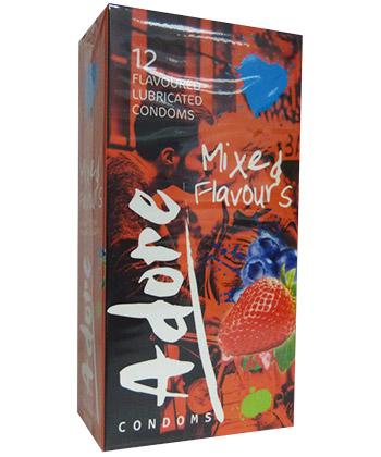 Adore Condoms Mixed Flavours - Boîte de 12 préservatifs